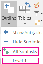 create and work with subtasks and summary tasks project