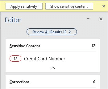 Screenshot of sensitive content in the Editor pane