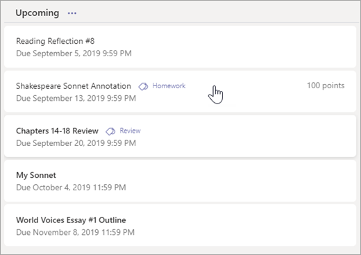 Turn in an assignment in Microsoft Teams - Office Support