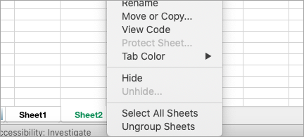 Unhide multiple sheets