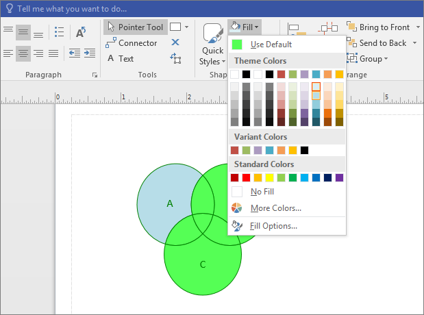 Create a venn diagram office support select a color ccuart Image collections