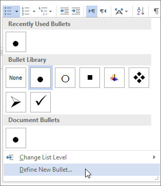Create custom bullets with pictures or symbols - Office Support
