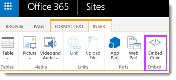 Embed an O365 Video on a Site