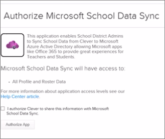 Choose Authorize App to share information with SDS