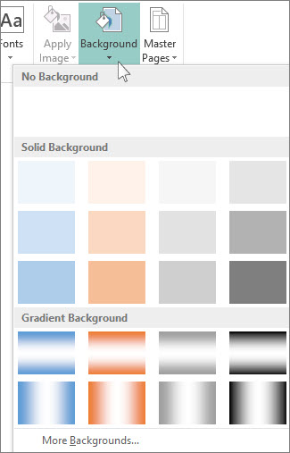 Change The Background Color Using Publisher