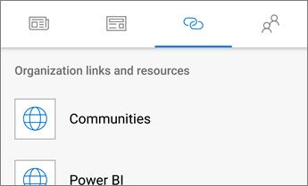 Screenshot of the Links tab