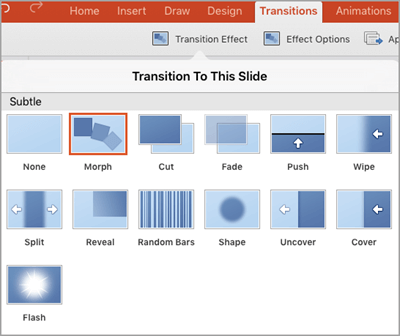 Add transition effects to your powerpoint presentation on for Transition windows for homes