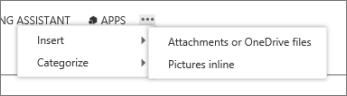 Insert file in calendar item
