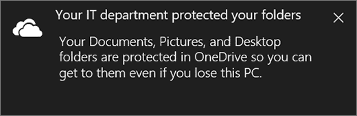 Onedrive protection message