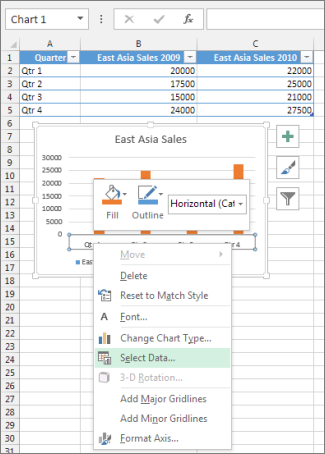 Change axis labels in a chart office support right click the category axis and select data ccuart Images