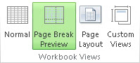 Page Break Preview button