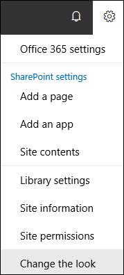 SharePoint settings