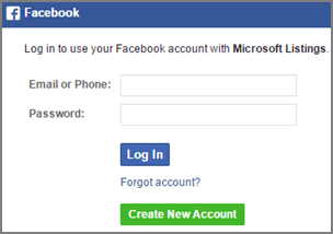 Screenshot: Enter email address and password associated with your Facebook business ccount