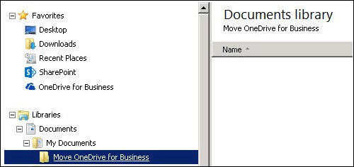 A folder for staging files to be moved to Office 365