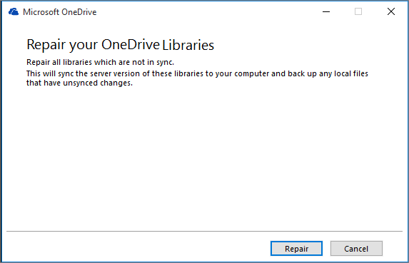Repair sync connections in OneDrive for Business - Office Support