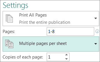 Print More Than One Page On Each Sheet Of Paper