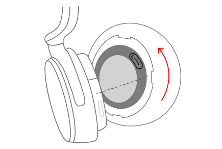 Removing the Surface earmuff