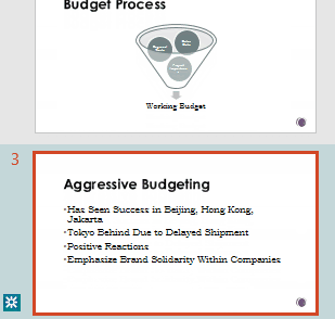 Revision highlighting in the thumbnail pane of PowerPoint