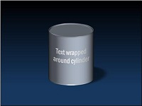 Text wrapped around a cylinder