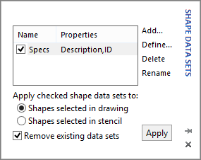 Shape Data Sets box