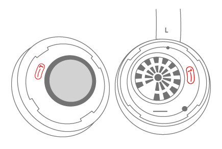 Line up the symbols on the Surface earmuffs