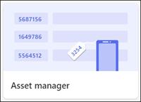 Asset manager list template
