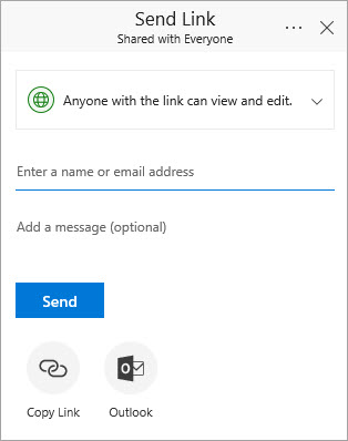 Office 365 send link to folder