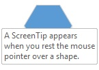 A Visio ScreenTip appears when you rest the mouse pointer over a shape.