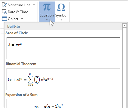 Write An Equation Or Formula Office Support