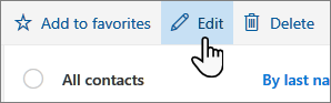 A screenshot of the Edit contact button