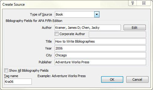 apa mla chicago automatically format bibliographies word add new source