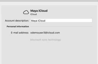 iCloud account added.