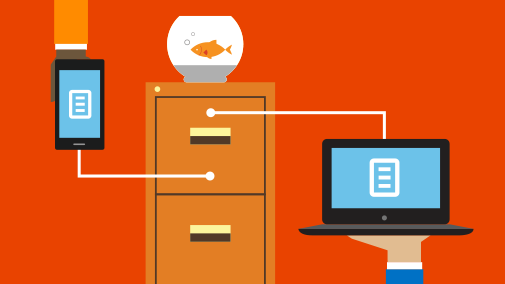With Office 365, you can store, share, and sync your files using OneDrive