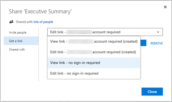 Share SharePoint files or folders in Office 365 - Office Support