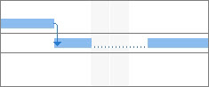 Image of a split task on a Gantt Chart.