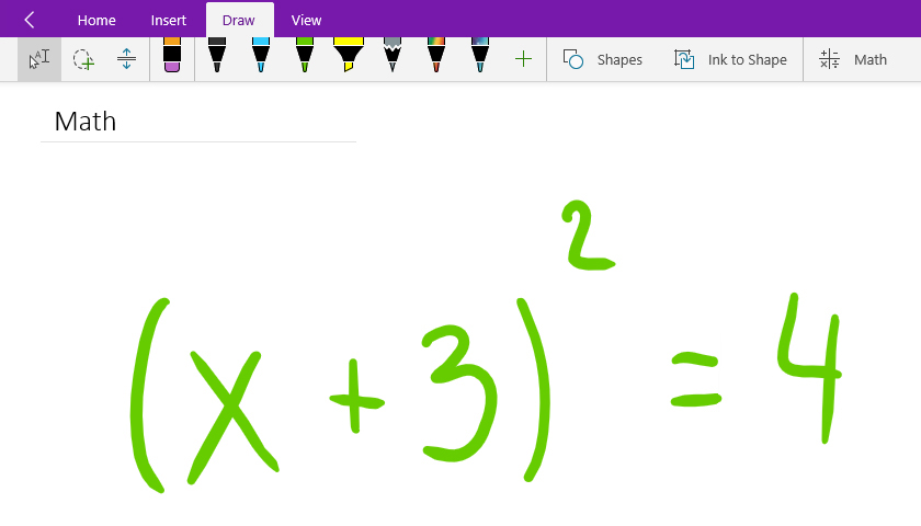 Convert and solve math equations in OneNote for Windows 10 - Office