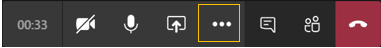 Meeting control-More actions icon highlighted