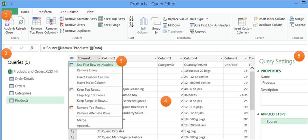 Introduction to the Query Editor (Power Query) - Excel