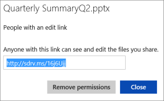 Copy the shortened URL to share with others