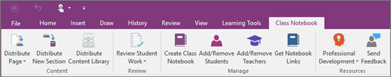 Class Notebook tab.