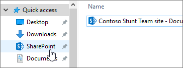 Synced SharePoint folder on your PC with SharePoint selected