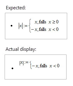 Word 2016 equations appear as misaligned or cut off