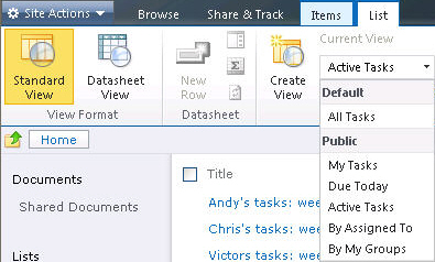 SharePoint Designer list views