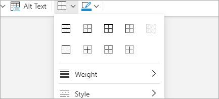 Add table borders