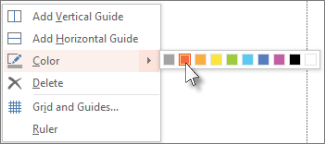 Right-click to change the color