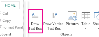 Draw text box