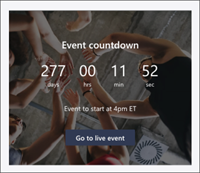 Screenshot of the Countdown timer web part