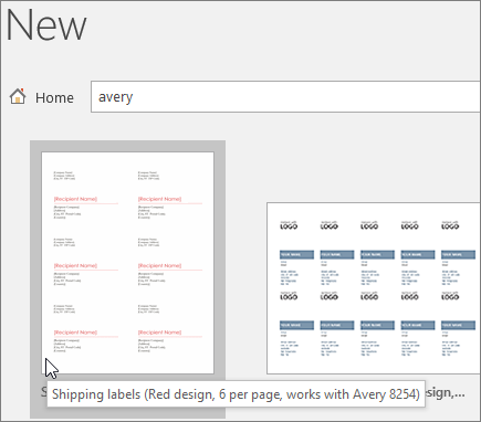 Search On Avery To Find Compatible Templates