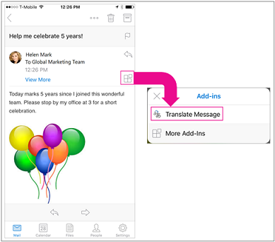 Translator for Outlook on iOS - Outlook for iOS and Android