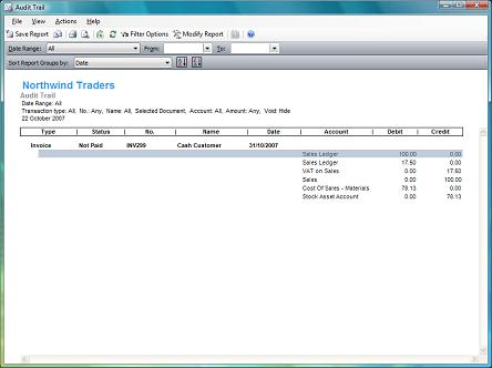 sample audit trail report